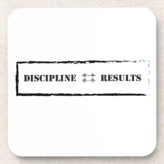Discipline = Results Beverage Coaster