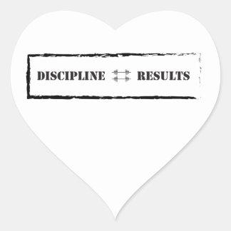 Discipline = Results Heart Sticker