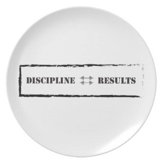 Discipline = Results Party Plate