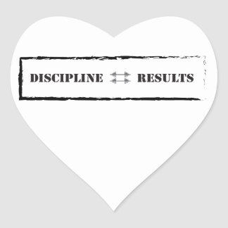 Discipline Results Stickers