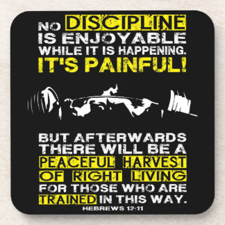DISCIPLINE - Squat Workout Motivational Drink Coaster