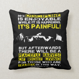 DISCIPLINE - Squat Workout Motivational Throw Pillow