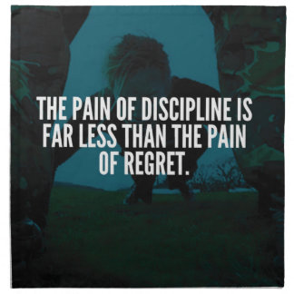 Discipline - Workout Inspirational Napkin