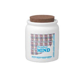 Disciplined MIND : Motivational Wisdom SCRIPT Candy Jar