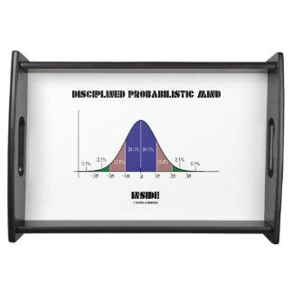 Disciplined Probabilistic Mind Inside Bell Curve Serving Trays