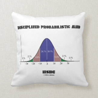 Disciplined Probabilistic Mind Inside Bell Curve Throw Pillow