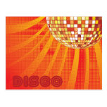 Disco ~ 1980s 80s Disco Ball Postcard
