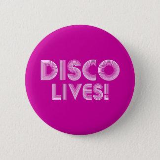 disco 6 cm round badge