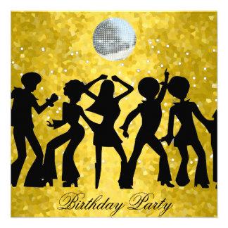 Disco 70 s Birthday Party Invitation Custom Invitations