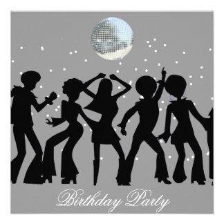 Disco 70 s Birthday Party Invitation Custom Announcement