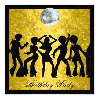 Disco 70's Birthday Party  Retro 13 Cm X 13 Cm Square Invitation Card