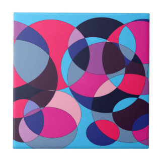 Disco abstract circle design. tile