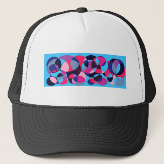 Disco abstract circle design. trucker hat