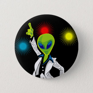 Disco Alien 6 Cm Round Badge