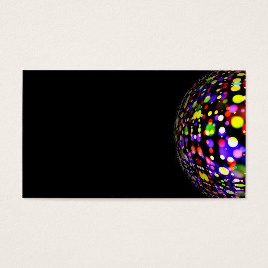 disco-ball-381907 COLORFUL BOHEK MUSIC PARTY CIRC Business Card