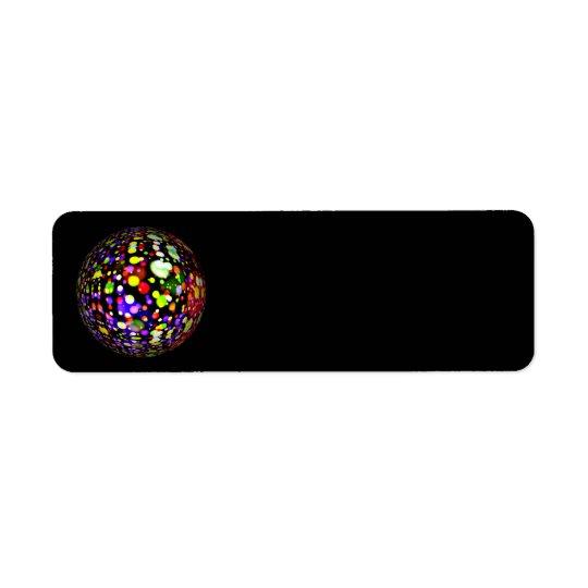 disco-ball-381907  COLORFUL BOHEK MUSIC PARTY CIRC Return Address Label