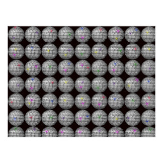 disco ball and stars poster