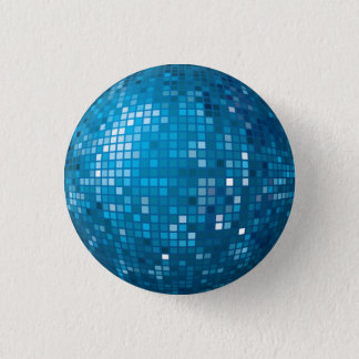 Disco Ball Blue Button