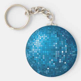 Disco Ball Blue Keychain