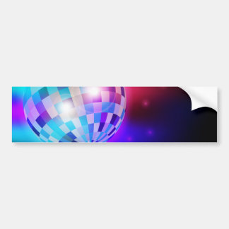 Disco Ball Bumper Sticker
