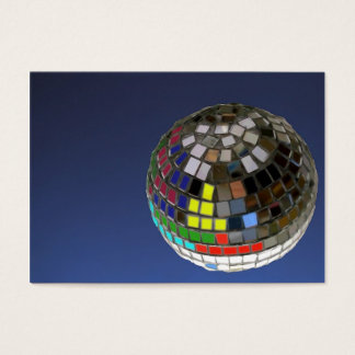 disco ball business card