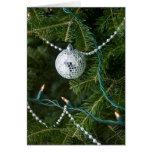 Disco Ball Christmas Ornament Greeting Cards
