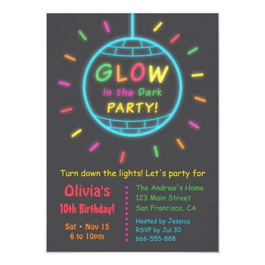 Disco Ball Glow in the Dark Birthday Party