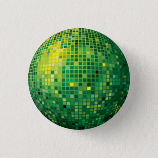 Disco Ball Green Button