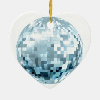 Disco Ball Illustration Ceramic Heart Decoration