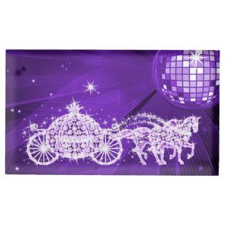 Disco Ball, Lilac Princess Coach & Horses Table Card Holder