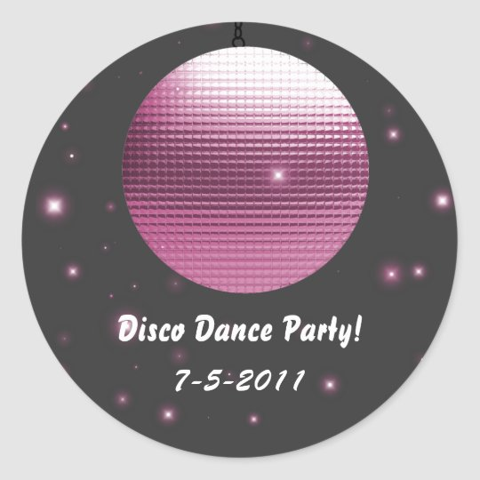 Disco Ball Party Stickers