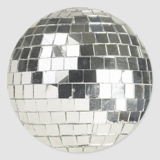 disco ball photo classic round sticker
