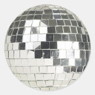 disco ball photo round stickers