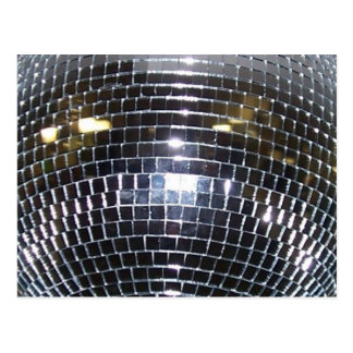 Disco Ball Retro 70s Dance Music Postcard