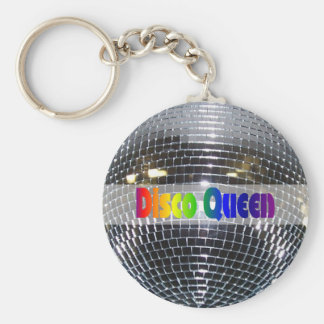 Disco Ball Shiny Silver | Disco Queen Retro 80s Key Ring