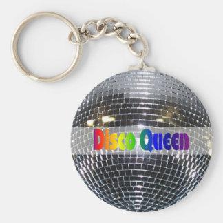 Disco Ball Shiny Silver   Disco Queen Retro 80s Key Ring