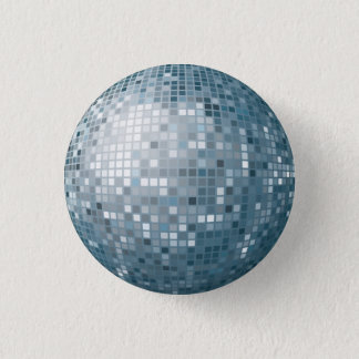 Disco Ball Silver Button