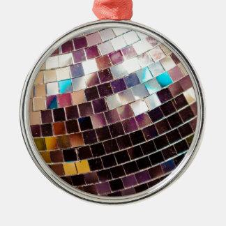 Disco Ball Silver-Colored Round Decoration