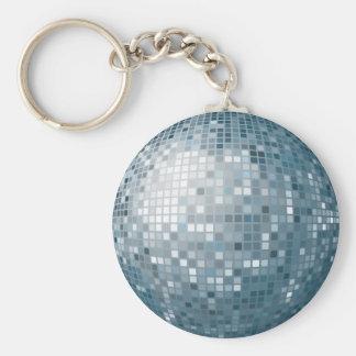 Disco Ball Silver Keychain