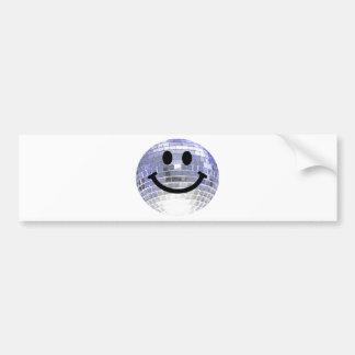 Disco Ball Smiley Bumper Sticker