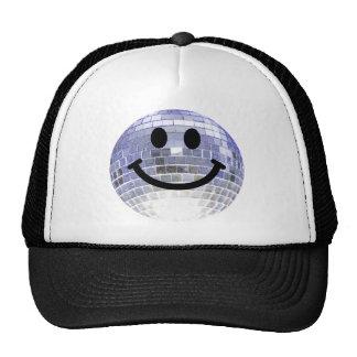Disco Ball Smiley Trucker Hat