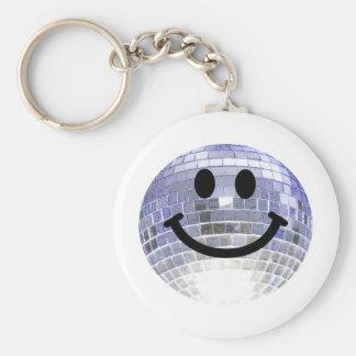 Disco Ball Smiley Key Ring