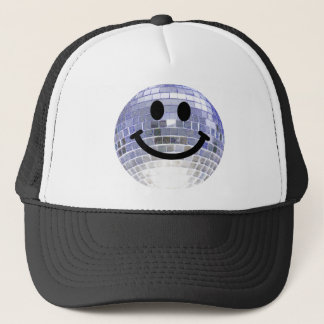 Disco Ball Smiley Trucker Hat