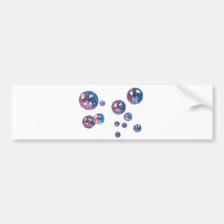 disco balls bumper sticker