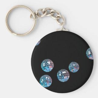 disco balls in empty space keychain