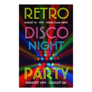 Disco Beams Lights Clubbing DJ flyer