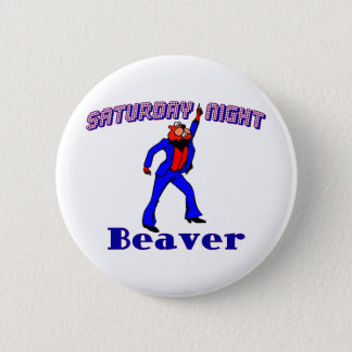 Disco Beaver 6 Cm Round Badge