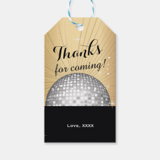 disco, black, 70s, vintage Gift Tags