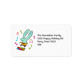 Disco Bunny Address Labels