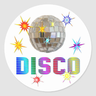 Disco Classic Round Sticker